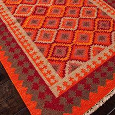 Jaipur Anatolia Izmir Red/Medium Tabasco Flat Weave Rug.