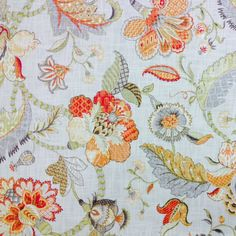 Finders Keepers Spice Floral Print Fabric;