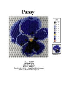 Flat Peyote Pansy - could make separate petals for 3-D type?