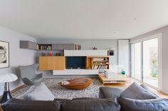 Bibliothèque - meuble TV contemporain-salon