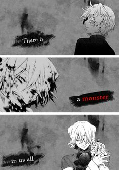 "(gif set) ""There is a monster in us all. Some people just hide it better than others."" 