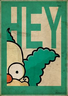 Simpsons Vintage Style posters by 3ftDeep by migle.blazyte.9