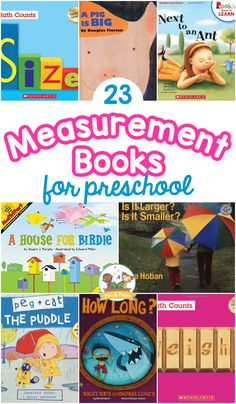 Are you looking for an age-appropriate list of books about measurement? You can easily combine math and literacy with these must-have measurement books that your little learners will love. You're sure to find some new favorites on this list that includes more than 20 engaging picture books about measurement concepts like length, height, weight, capacity – and more!
