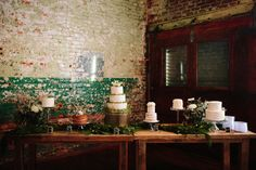 Who doesn't love a cake buffet? We cherish the opportunity to switch things up and offer many flavors and designs to our clients. Rachel Landry was kind enough to share her wedding cakes featured at one of our favorite venues, The Engine Room! Thanks Rachel! #ConfectionPerfection #TheEngineRoom #CakeBuffet #DisneyCake #WinterWedding