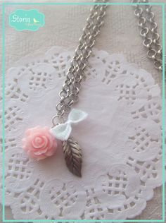 .:storin:. pink garden long necklace - more colours available  (find it at www.facebook.com/PequenosTesouros)