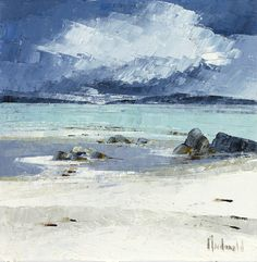 Frances Macdonald,  Clouds over Ben Mhor from Iona.  Passing Islands - The Scottish Gallery, Edinburgh - Contemporary Art Since 1842