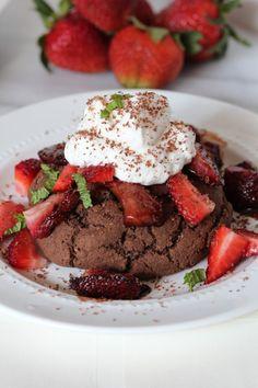 Dark Chocolate Shortcakes via @Sara Eriksson _Pidge's Pantry