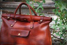 Купить Сумка Accettura - рыжий, сумка-скрутка, leather bag, leather satchel