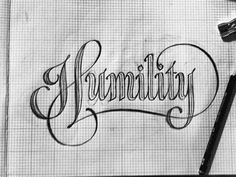 """Humility"" hand drawn lettering (this is an animated gif)"