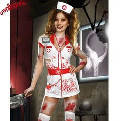 Special Use: Costumes Gender: Women Material: polyester/spandex Theme: Gothic Color: as shown Payment: Escrow Shipping way: China post,DHL,KCS,EMS,ETC. Gender: woman Group: nurse costume for adult Der Zombie Nurse Costume, Nurse Halloween Costume, Sexy Nurse Costume, Halloween Costumes For Girls, Adult Halloween, Horror Costume, Halloween Zombie, Zombie Fancy Dress, Diy Halloween Costumes