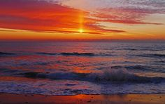 Photograph Red Sky, Red Sea - Sunrise on the New Jersey Shore by Kevin Reynolds on 500px