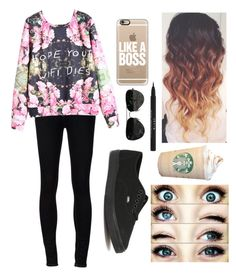 """""""This girl has swag"""" by josie2015 ❤ liked on Polyvore featuring Casetify, Stila, Ström, Vans, Ray-Ban, swag and josie2015collections"""