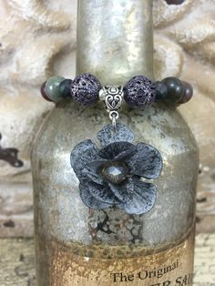 Gypsy Flower Stretch Bracelet Stacking by JustSouthOfUrban on Etsy
