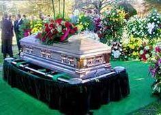 Elvis' coffin being re-interned at graceland