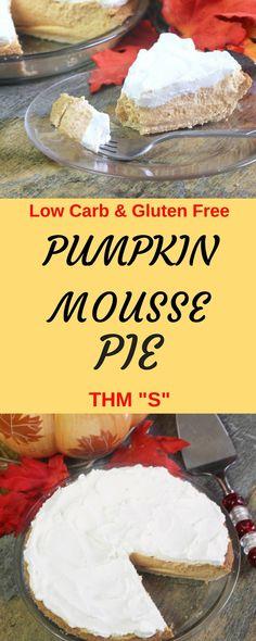 Pumpkin Mousse Pie || Low Carb, Sugar Free, Trim Healthy Mama, Gluten Free Pie