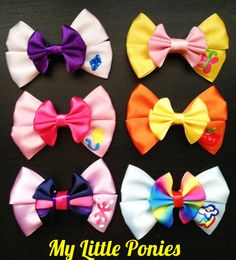 My Little Pony Inspired Bows by CStreetBoutique