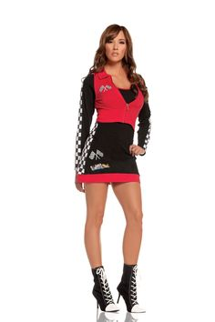 Sexy Elegant Moments Black Red High Speed Hottie Race Car Driver Nascar Speed  Racer Costume Chase 4def7f5db