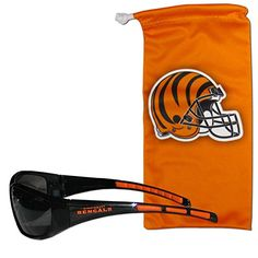 NFL Cincinnati Bengals Adult Sunglass and Bag Set Orange ** You can find more details by visiting the image link.