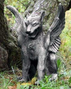 "Orlandi Caesar's Griffin Fiber Stone Gargoyle Statue - Yard Art 13""X13""X18"" by Artistic Solutions. $199.99. Safe for outdoor use. Made in the USA. Carefully stained for an aged appearance. Hand made from fiber stone to be lightweight and more durable than concrete. Entirely handmade by skilled artisans. This GRIFFIN GARGOYLE garden statue will command attention in any outdoor setting. Crafted of Fiber Stone for a quality look that will withstand the elements. Fiber Stone..."
