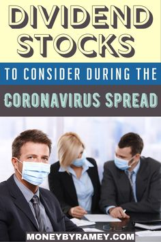 The Coronavirus is certainly a worldwide pandemic. It is my sincere hope that the powers-that-be will get it under control and fast. Until then, the markets have been dropping in response to what is perceived as what will become a stand-still in economic growth, supply chain disruptions, and general upheaval in society. Click the photo to learn more. #ideas #dividend #stocks #investing #finance #money #moneymanagement #financialplanning #financialfreedom #financial #tips #howto Managing Money, Money Saving Tips, Financial Goals, Financial Planning, Make Money Online, How To Make Money, Dividend Investing, Dividend Stocks, Investment Tips
