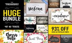 The Freakishly Huge Bundle of 40 Fonts and Bonus Vectors (Plus Web Fonts & Extended Licensing) - Only $39