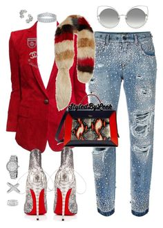"""""""#StyledByLeek #NeurFashion"""" by stylebywho on Polyvore featuring Marc Jacobs, Dolce&Gabbana, Balmain, Christian Louboutin, Chanel, Mulberry, Marni, Michael Kors, Sole Society and Elise Dray"""