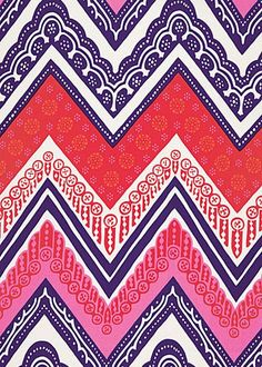 by Layla Grayce  love chevron, but love it's made with patterns not solid colors