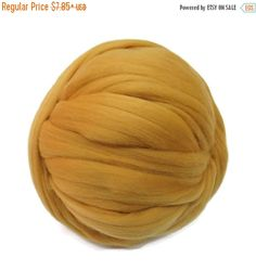 SALE 16 Micron Merino wool Roving Luxury Fiber for felters and spinner (Honey)