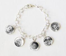 Photo Charm Bracelet, personalized jewelry, charm bracelet, personalized gifts, gifts for mom, grandmother gifts, womens gifts,photo jewelry