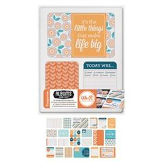 Tangerine Journaling Cards for Albums Made Easy Memory System by We R memory keepers