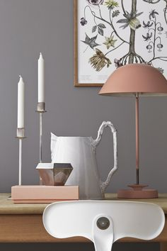 The double function of desk lamps - Home Design & Interior Ideas Interior Styling, Interior Decorating, Interior Design, Modern Rustic Decor, Deco Addict, Geometric Decor, Home Living, Grey Walls, My New Room