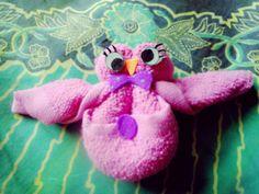 Kerajinan tangan Burung hantu dari handuk