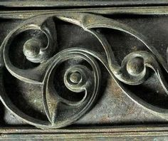 Detail of an Iron-age Scabbard from around 70AD - Celtic