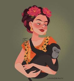 Yesterday was the Day of the Dead and I had a sketch of Frida for such a long time so I decided to make her as in Coco, it took me ages… Pixar Concept Art, Disney Pixar, Disney Characters, Fictional Characters, Art Drawings, Snow White, Animation, Fan Art, Disney Princess