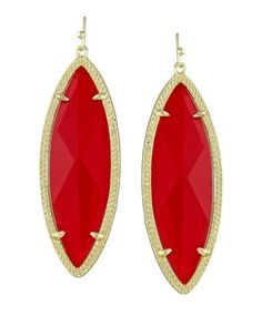 Jessa Statement Earrings in Bright Red - Kendra Scott Jewelry. Available October 16, 2013.