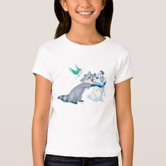 (Meeko & Friends T Shirt) #Disney #Flit #JohnSmith #Meeko #Percy #Pocahontas is available on Famous Characters Store   http://ift.tt/2bSwvQw