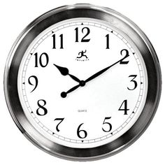 The Home Decorators Collection 20 in. D Brushed Nickel Wall Clock is a perfect choice for those who love modern decor. This clock gives your home a fresh and new look. It enhance your home with our functional and attractive wall decor. Nickel Finish, Brushed Nickel, Traditional Clocks, Media Wall, Decoration, Contemporary Style, Contemporary Clocks, Wall Decor, Clock Decor