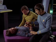 I love how Spock's hand is on his arm
