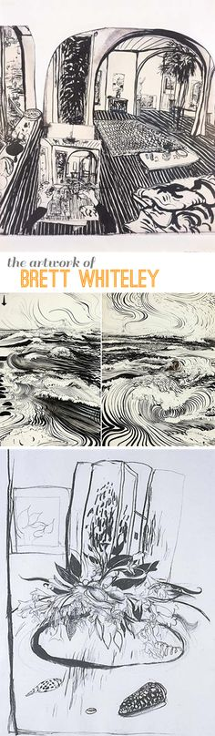 Artist Showcase: Brett Whiteley – bold lines make great drawings | Beautiful Hello