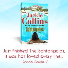 The Santangelos by Jackie Collins, a New York Times bestseller. Jackie Collins Books, New York Times, Scandal, Bestselling Author, Audio Books, Best Sellers, My Books