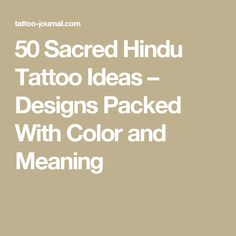 50 Sacred Hindu Tattoo Ideas – Designs Packed With Color and Meaning