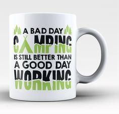 A Bad Day Camping Coffee Mug