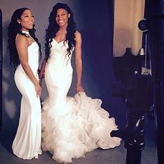 """""""The two princesses of NELLYVILLE ...! @nellelove @stink_mylife"""" Prom Goals, Bff Goals, Best Friend Goals, Squad Goals, Date Dresses, Prom Dresses, Wedding Dresses, High Class Fashion, Two Princess"""