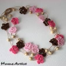 necklace knitting flowers - Recherche Google
