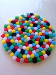 DIY Felt Ball Trivet Raising Teenagers, Felt Ball, Felt Diy, Sprinkles, Candy, Blog, Crafts, Manualidades, Blogging