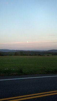 Beautiful daytime moon