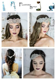 Shop Bohemian Bridal headpieces, headbands, hair chain and hair jewelry in our shop : https://www.etsy.com/shop/HairFloaters?ref=l2-shop-header-avatar