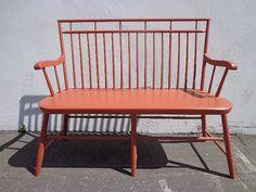 Antique Deacon's Bench Rustic Farmhouse Settee Bench Loveseat Sofa Shabby…