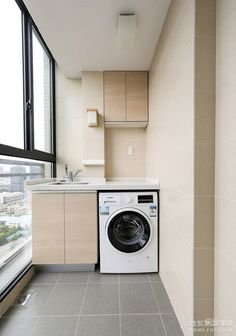 A small laundry room can be a challenge to keep laundry room cabinets functional, yet since this laundry room organization space is constantly in use, we have some inspiring design laundry room ideas. Laundry Room Design, Home Room Design, Interior Design Kitchen, Laundry Room Cabinets, Laundry Room Organization, Basement Laundry, Office Organization, Outdoor Laundry Rooms, Outdoor Rooms