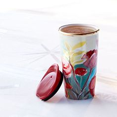 Starbucks Double Wall Traveler Painted Flowers 10 Fl Oz 11041002 * Want to know more, click on the image. (This is an affiliate link)